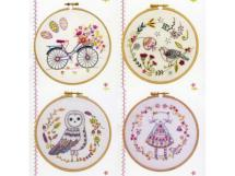 Kit broderie traditionnelle<BR>Nos jolis cercles